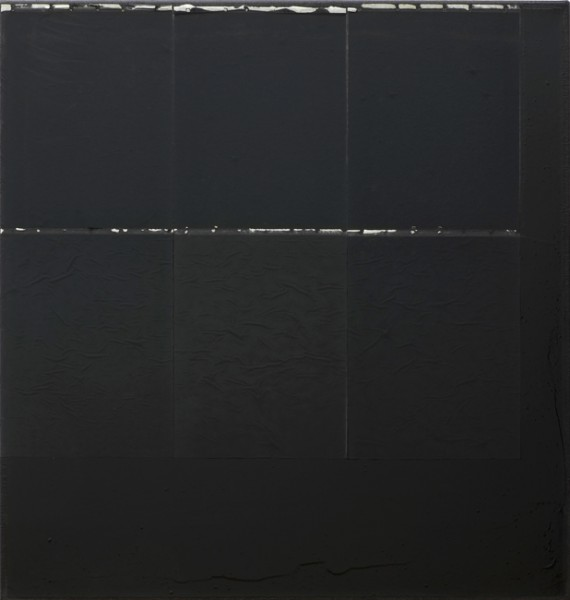 Jakob Gasteiger, 21.11.2013, 2013, carbon paper, varnish on canvas, 70x70 cm