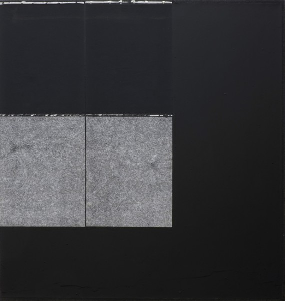 Jakob Gasteiger, 22.11.2013, 2013, carbon paper, varnish on canvas, 70x70 cm