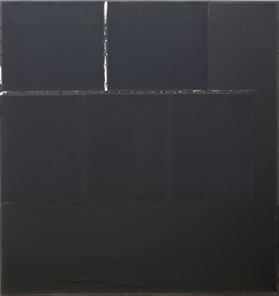 Jakob Gasteiger, 23.11.2013, 2013, carbon paper, varnish on canvas, 70x70 cm