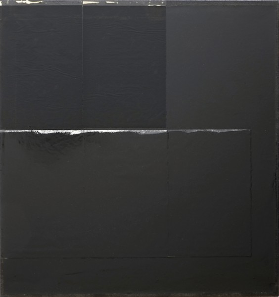 Jakob Gasteiger, 26.11.2013, 2013, carbon paper, varnish on canvas, 70x70 cm